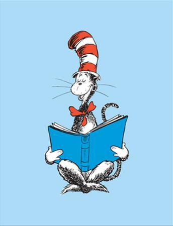 The Cat in the Hat (on blue) by Theodor (Dr. Seuss) Geisel