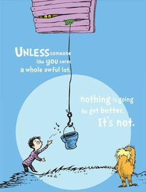 Unless Someone Cares (blue) by Theodor (Dr. Seuss) Geisel
