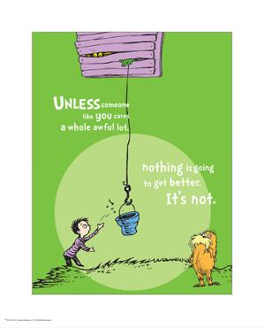Unless Someone Cares (green) by Theodor (Dr. Seuss) Geisel