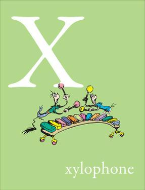 X is for Xylophone (green) by Theodor (Dr. Seuss) Geisel