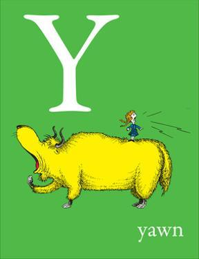 Y is for Yawn (green) by Theodor (Dr. Seuss) Geisel