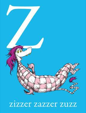 Z is for Zizzer Zazzer Zuzz (blue) by Theodor (Dr. Seuss) Geisel