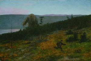 The Ash Lad and the Troll by Theodor Kittelsen