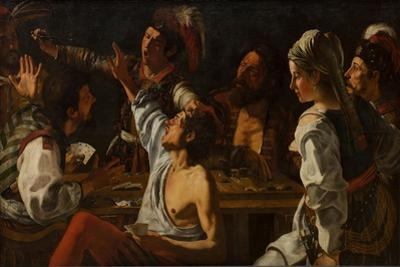 Card and Backgammon Players, Fight over Cards, 1620-1629 by Theodor Rombouts