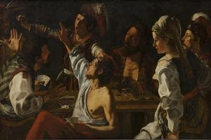 Card and Backgammon Players. Fight over Cards, C. 1620-30 by Theodor Rombouts