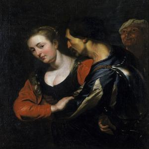 Landsknecht with a Woman by Theodor Rombouts