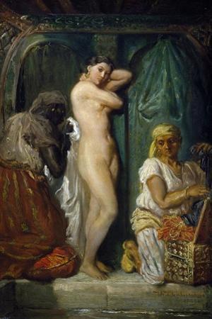 Bathing in Seraglio, 1849 by Theodore Chasseriau