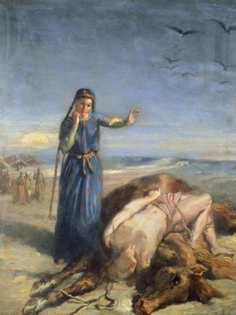 Cossack Girl Finding Body of Mazepa, 1851 by Theodore Chasseriau