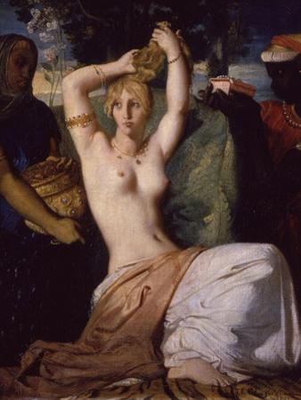 Esther Preparing Herself for Presentation to King Ahasuerus (Xerxes) Called Toilet of Esther, 1841 by Theodore Chasseriau