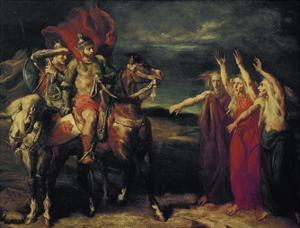 MacBeth and the Three Witches, 1855 by Theodore Chasseriau