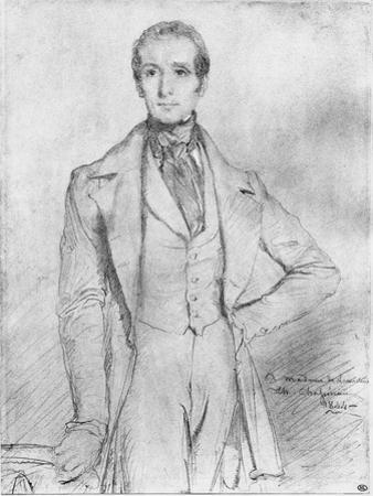 Portrait of Alphonse De Lamartine, 1844 by Theodore Chasseriau