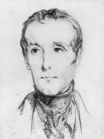 Portrait of Alphonse De Lamartine, C.1848 by Theodore Chasseriau
