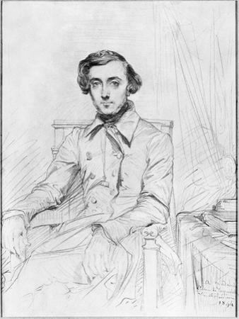 Portrait of Charles Alexis Henri Clerel De Tocqueville, 1844 by Theodore Chasseriau