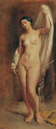 Standing Female Nude, Study For the Central Figure of The Tepidarium, 1853 by Theodore Chasseriau