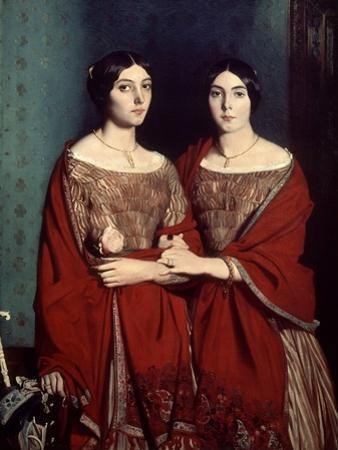 The Two Sisters, or Mesdemoiselles Chasseriau: Marie-Antoinette-Adele and Genevieve, 1843 by Theodore Chasseriau