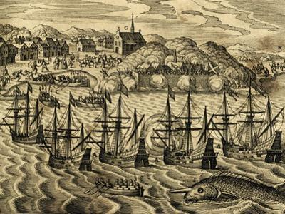 View of Port of Acapulco in Mexico by Theodore de Bry