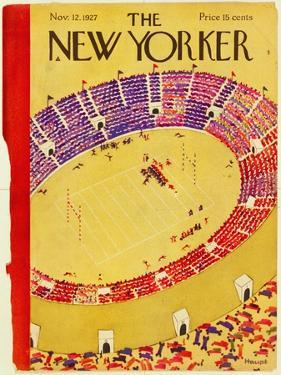 The New Yorker Cover - November 12, 1927 by Theodore G. Haupt