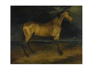 A Horse Frightened by Lightning, Ca 1814 by Théodore Géricault