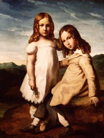 Alfred Dedreux (1810-60) as a Child with His Sister, Elisabeth, 1816-17