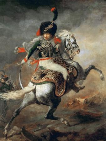 An Officer of the Imperial Horse Guards Charging