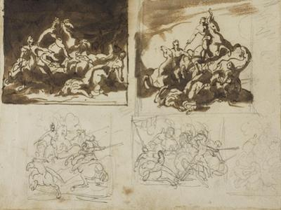 Five Sketches for a Cavalry Battle, 1813-14