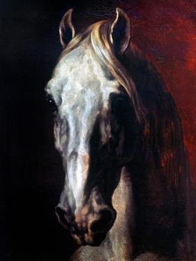 Gericault: White Horse by Théodore Géricault