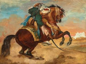 Turk Mounted on Chestnut Coloured Horse, C. 1810 by Theodore Gericault