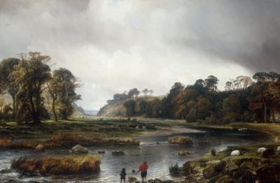 A View of the Park of Seaton, Scotland, 1840 by Theodore Gudin