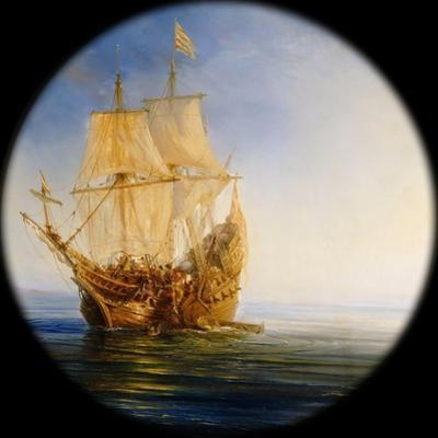 Spanish Galleon Taken by the Pirate Pierre Le Grand Near the Coast of Hispaniola, in 1643 by Théodore Gudin