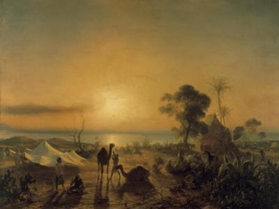 The Camp at Staoueli, 1830 by Theodore Gudin
