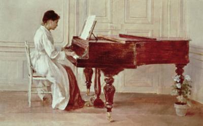 At the Piano, 1887
