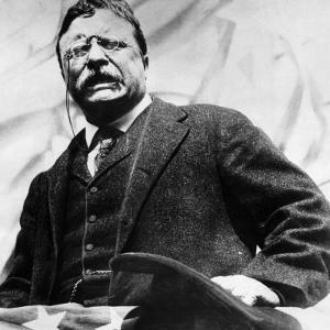Theodore Roosevelt, Delivering a Campaign Speech, 1900's