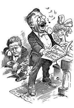 Theodore Roosevelt (Political Cartoon) Art Poster Print