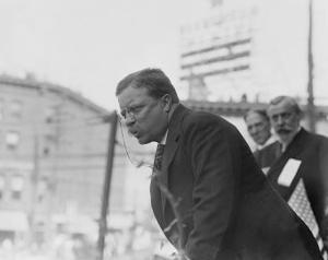 Theodore Roosevelt Speaking in Yonkers, Ny on October 17, 1910