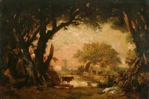 Clearing in the Woods of Fontainebleau by Théodore Rousseau