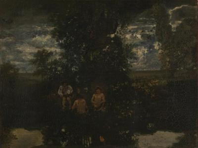 Moonlight. the Bathers, 1860S by Théodore Rousseau