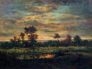 Pond at the Edge of a Wood by Théodore Rousseau