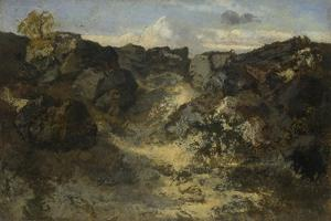 Rocky Landscape, C. 1840 by Théodore Rousseau