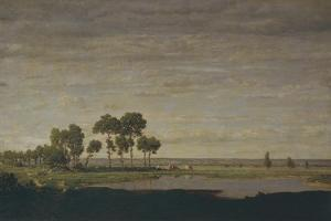 Spring, Pond, 1852 by Théodore Rousseau