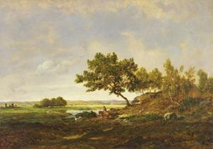 The Pond at the Foot of the Hill, C.1848-55 by Theodore Rousseau