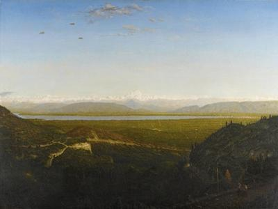 View of Mont Blanc, Seen from La Faucille, C.1865 by Theodore Rousseau