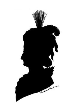 Marie Antoinette in Silhouette by Theodore Tharp