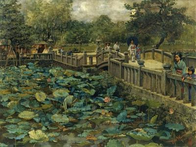 Lotus Pond, Shiba, Tokyo, 1886