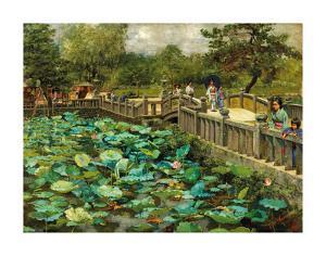 Lotus Pond, Shiba, Tokyo, c.1886 by Theodore Wores