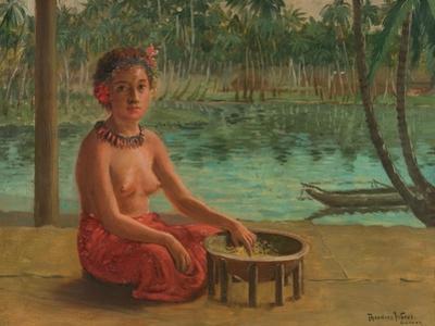 Making Kava, Samoa, 1901