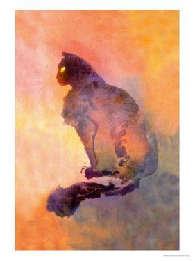 Chat Pourpre, c.1900 by Théophile Alexandre Steinlen