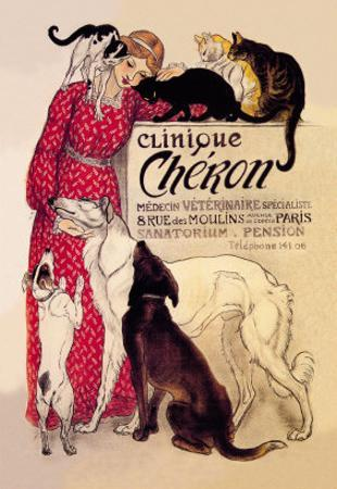 Clinique Cheron, Veterinary Medicine and Hotel by Théophile Alexandre Steinlen