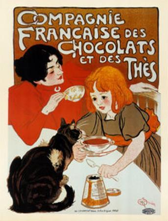 Compagnie des Chocolats et des Thes by Théophile Alexandre Steinlen