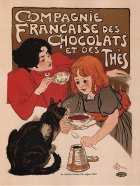 Compagnie Francaise Des Chocolats Et Des Thes by Theophile Alexandre Steinlen