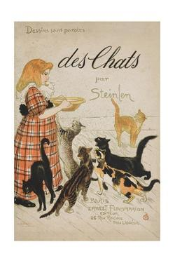 Des Chats Book Cover by Théophile Alexandre Steinlen